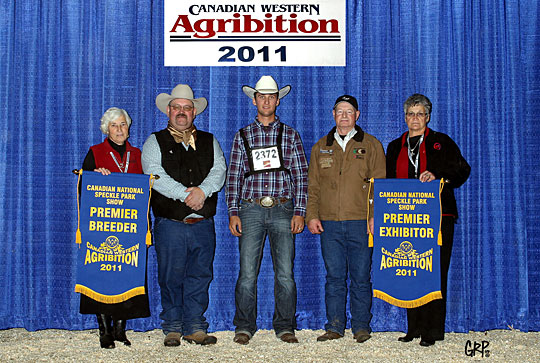 Premier Breeder and Exhibitors won by River Hill Farm at the 2011 Canadian Western Agribition