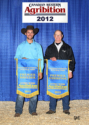 Premier Breeder and Exhibitor at Canadian Western Agribition in 2012